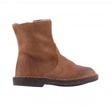 Boots Zippées Fourrées Camel