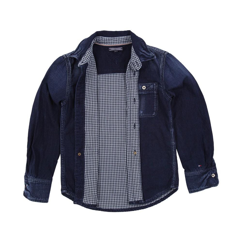 chemise denim blue hills tommy hilfiger mode ado gar on smallable. Black Bedroom Furniture Sets. Home Design Ideas