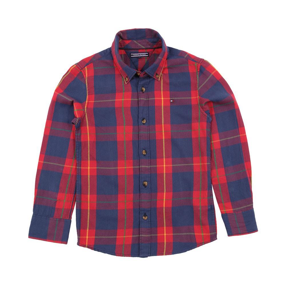 chemise carreaux newbury rouge tommy hilfiger mode ado gar on smallable. Black Bedroom Furniture Sets. Home Design Ideas