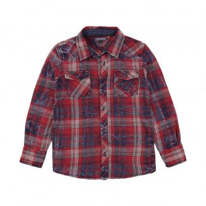Camicia Grandi Quadri Brattle Rosso