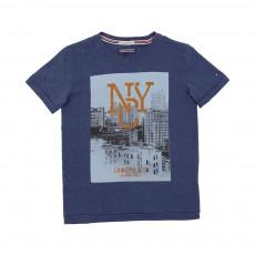 T-shirt Photo NYC Bleu chiné