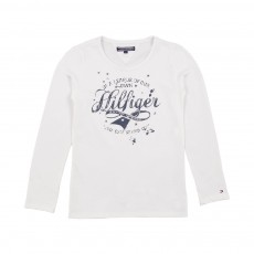 T-shirt Girls Hilfiger Blanc