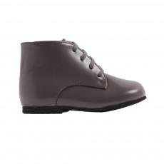 Boots Cuir Premiers Pas Adam Gris charbon