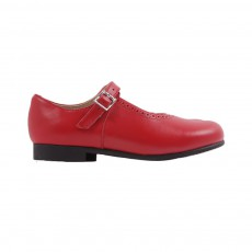 Babies Cuir Clare Rouge