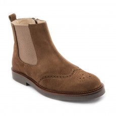 Boots Cuir Bout Fleuri Marlow Marron