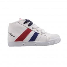 Baskets Zippées Tricolore Blanc