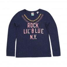 T-shirt Lil'Blue Bleu