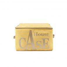 Rangement House Case Rayures - Jaune