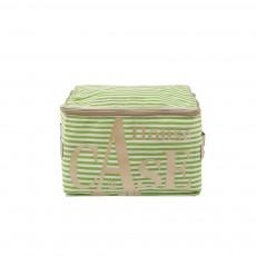 Rangement House Case Rayures - Vert