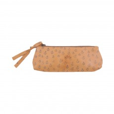 Trousse Cuir Ancre Jaune moutarde