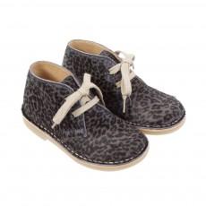 Chaussures lacets Panthère Gris foncé
