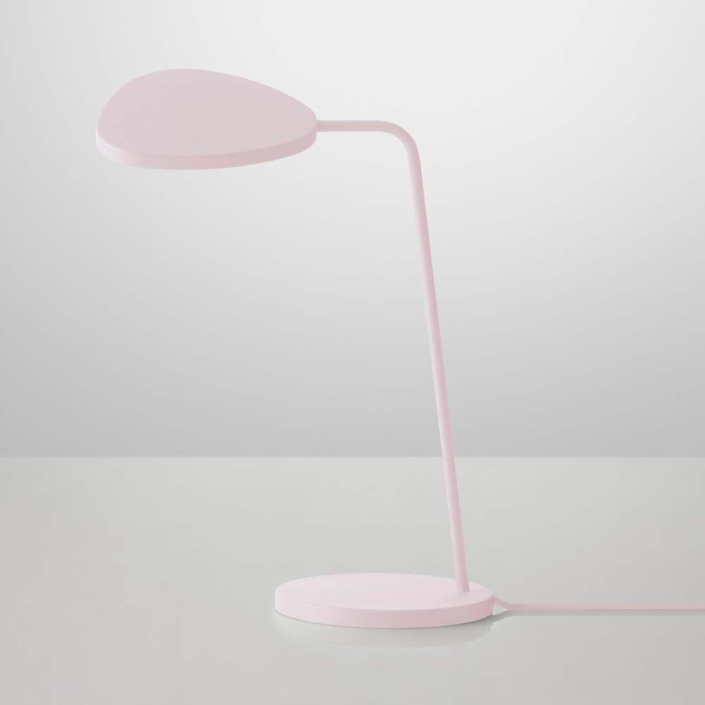 Lampe poser leaf rose muuto d coration smallable for Lampe a poser rose