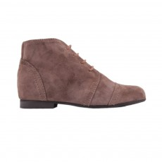 Bottines Lacets Zip Poppins Taupe