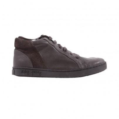 Sneakers Imbottite Zip Chobim Marrone