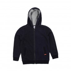 Sweat Zippé  Capuche Denim