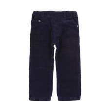 Pantalon Velours Regular Bleu indigo