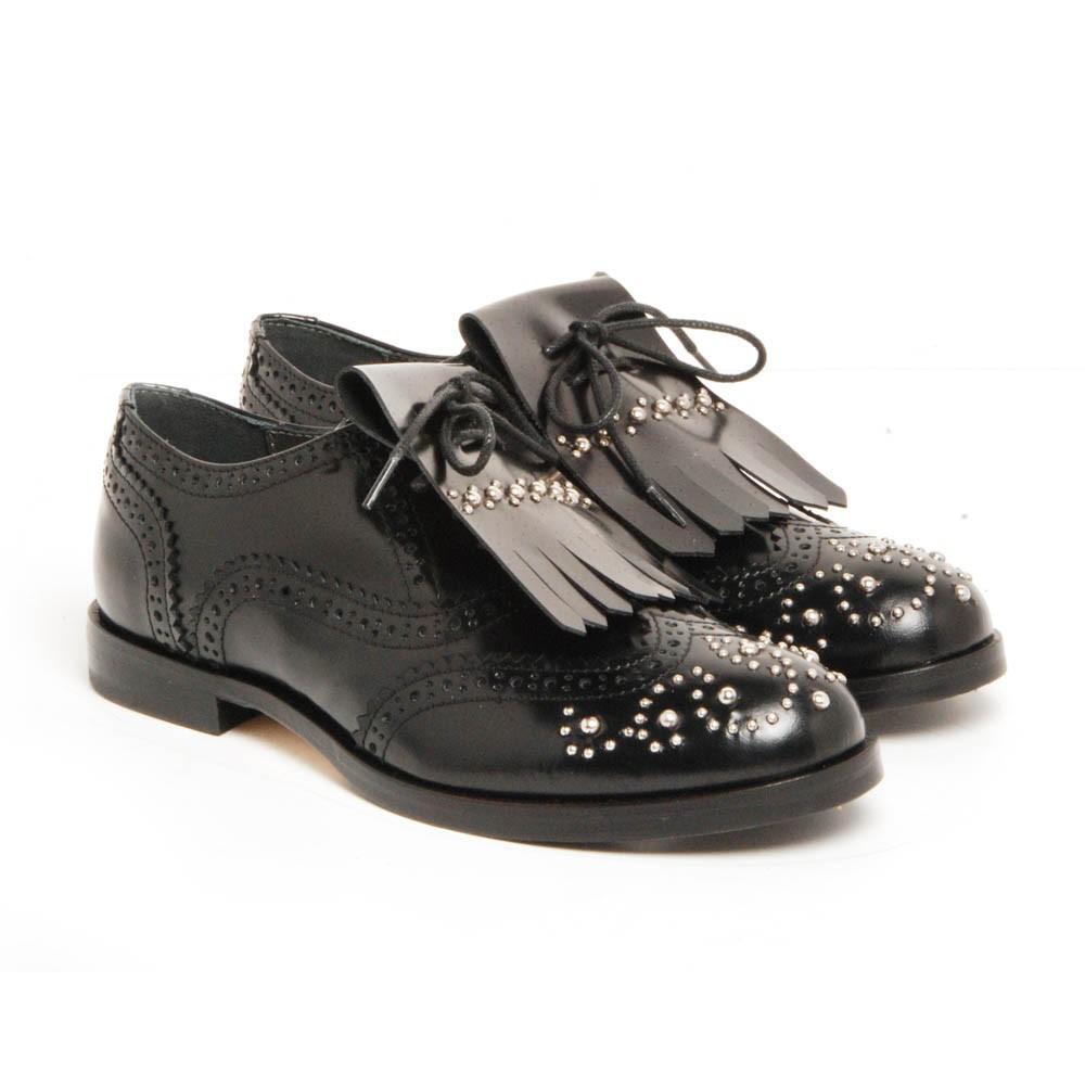 derbies frange amovible noir gallucci chaussures smallable. Black Bedroom Furniture Sets. Home Design Ideas