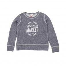 Sweat Vintage Market Bleu gris