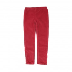 Leggings Velours Rouge