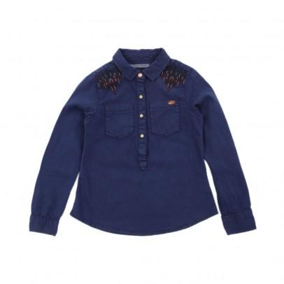 Camicia Ricamata Demin