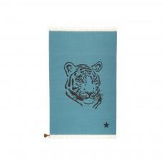 Tapis Gypsy Tigre - Bleu canard