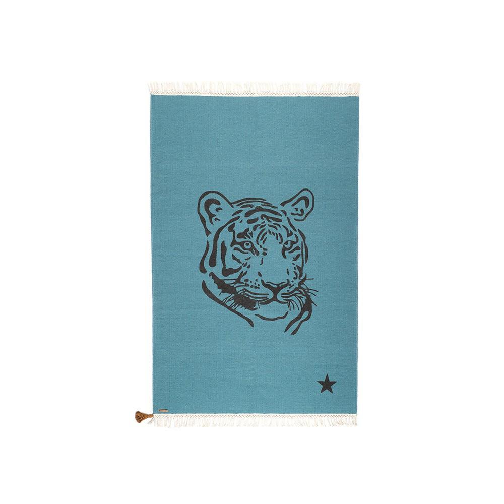 tapis gypsy tigre bleu canard varanassi d coration enfant smallable. Black Bedroom Furniture Sets. Home Design Ideas
