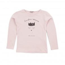 T-shirt La Plus Rêveuse Rose pâle
