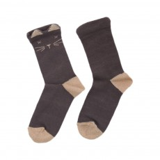 Chaussettes Chats Gris anthracite