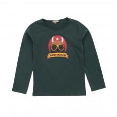 T-shirt Casque Best Rider Vert sapin