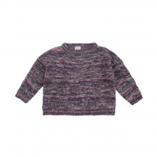 Pull Axana Space Violet chiné