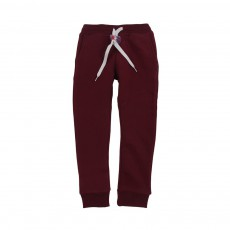 Jogger Slim Fleece Bordeaux