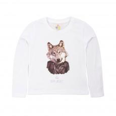 T-shirt Dark Wolf Blanc