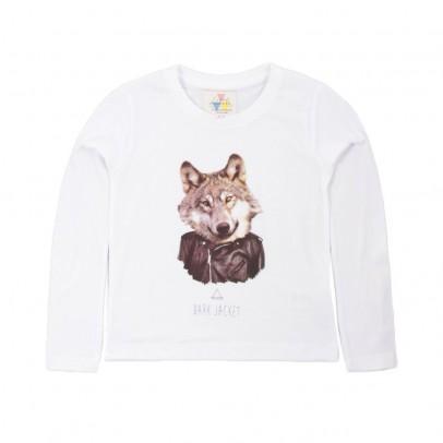 T-shirt Dark Wolf Bianco