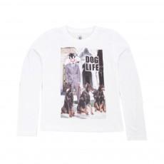 T-shirt Doglife Blanc