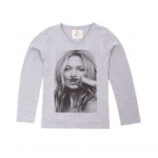 T-shirt Kate Moss Gris chiné