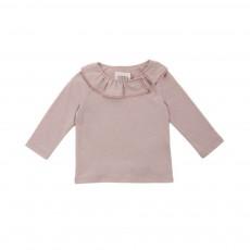 T-shirt Col Volanté Bisset Beige rosé