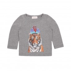T-shirt Tigre Indian Gris chiné
