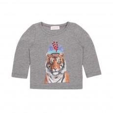 T-shirt Tigre Indian Gris chiné