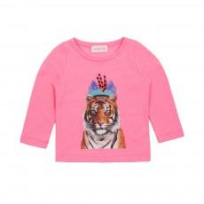 T-shirt Tigre Indian Rose