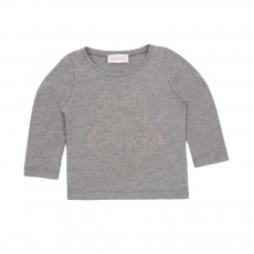 T-shirt Loup Gris chiné