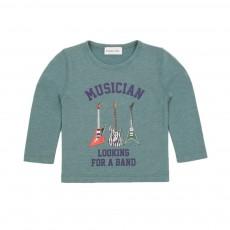 T-shirt Musician Vert céladon