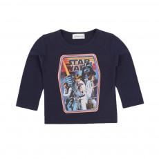 T-shirt Starwars Bleu marine