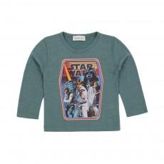 T-shirt Starwars Vert céladon