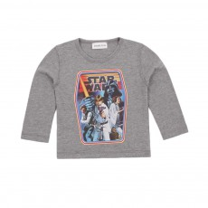 T-shirt Starwars Gris chiné