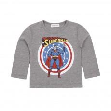 T-shirt Superman Gris chiné
