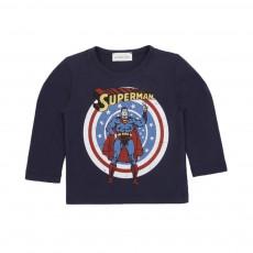T-shirt Superman Bleu marine