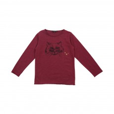 T-shirt Chat Rouge cerise