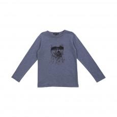 T-shirt Ours Denis Bleu gris