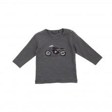 T-shirt Moto Denis Gris foncé