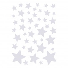 Stickers - Planche d'étoiles Gris clair